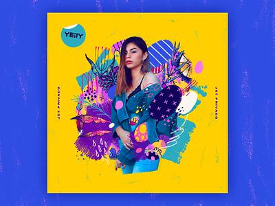 YEiLY — Jet Privado   Single Artwork album album cover single artwork single cover singer tropical latino illustration art design artwork branding musician music yeily