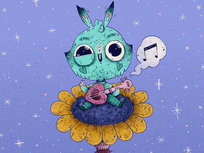 #Drawthisinyourstyle | Natalia Letona character design art character artwork handmade illustration music flower rabbit bunny natalia letona dtiys drawthisinyourstyle