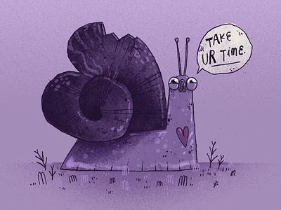 Heart Snail hearts character design character artwork art handmade illustration mentalhealth heart snail