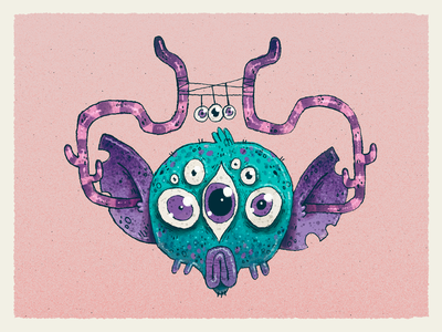 Space Monkey monster alien creature drawing sci fi monkey character design character artwork handmade art illustration