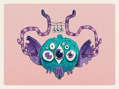 Space Monkey monster alien creature drawing sci fi monkey character design character artwork handmade art illustration