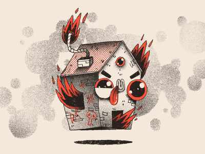 Bomb House bomb house house character design character artwork handmade art illustration