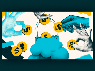 Money Bag | Editorial Illustration shopping bag hands ecommerce shopping money header blog artwork handmade art illustration editorial illustration editorial collage