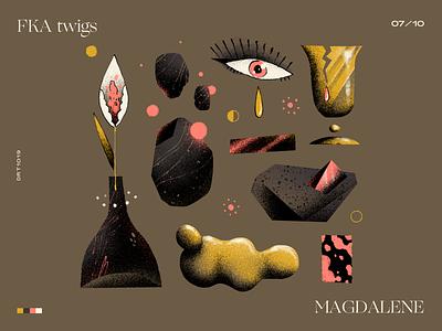 07 | FKA twigs — MAGDALENE music design handmade art illustration shapes elements abstract top 10 record artwork album magdalene fka twigs