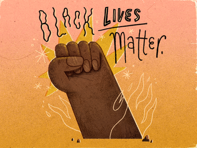 Black Lives Matter typography quote artwork handmade art illustration black lives matter blm