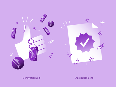 hugo | Empty States IV perfect succesful payment success money received money application application sent superapp web app icon ui ux vector illustration