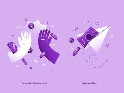 hugo | Empty States VIII app illustration empty states empty state dollar bill bill airplane payment sent payment money success transaction illustration web icon app ux ui logo vector design