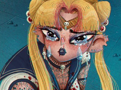 #sailormoonredraw | Art Challenge artwork handmade art illustration character design character goth usagi tsukino sailormoonredraw sailor moon