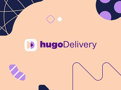 hugoDelivery | Logo logotype logo design fintech superapp delivery app delivery flat minimal web app icon ux ui vector branding logo