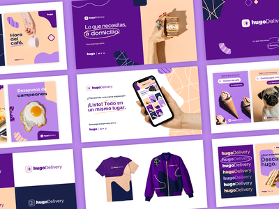 hugoDelivery | Brandbook superapp app delivery app delivery design brand design visual identity logo vector ui branding