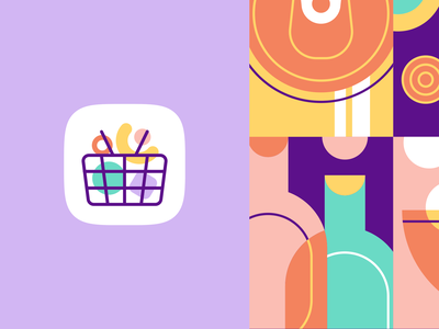 hugoMarket | Icon online shopping shopping app icon minimal web app icon ui ux branding vector grocery app market supermarket logo outlet grocery grocery store