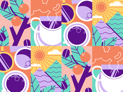 hugoCafé | Pattern packaging ux vector design salvadoran el salvador abstract geometric texture coffee
