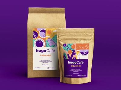 hugoCafé   Packaging branding vector design el salvador salvadoran coffee packaging