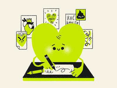 Doodling Heart minimal design character design character artwork handmade art illustration doodling doodle drawing heart