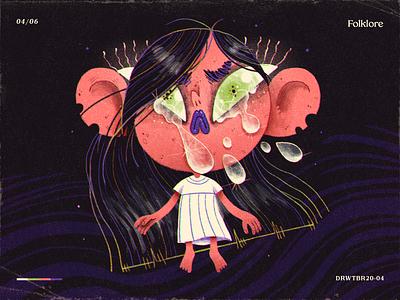 Drawtober 2020 | Prompt 04 — Folklore characterdesign character handmade art illustration salvadoran guatemala el salvador latino folktale llorona la llorona creepy scary spooky challenge halloween drawlloween inktober drawtober