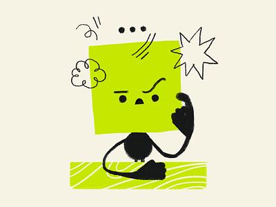 Problem Solving solve think thinking problem character art artwork handmade illustration character design