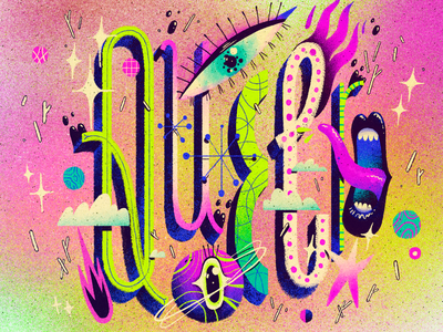 Queer illustration queerness gay artwork art handmade texture pride lgbtq queer lettering typography type