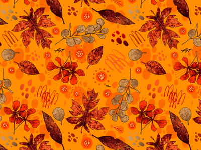 Armonía I | Pattern pattern design design surface design fabrics textile fashion collection artwork handmade art illustration texture patterns floral tropical autumn fall pattern