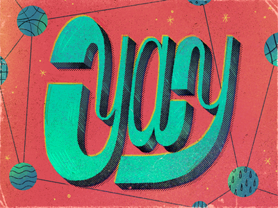 Yay! typeface type design font handmade artwork texture text lettering typography yay type