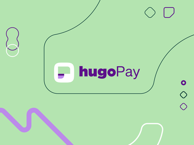 hugoPay | Logo finance app money bank finances fintech flat minimal web icon app vector ux ui logo branding design