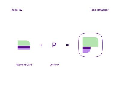 hugoPay   Icon Metaphor app icon logo design letter p app icon minimal web app icon ui ux vector branding