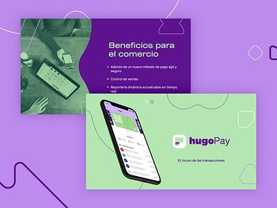 hugoPay   Sales Deck ui deck design slide design app design finance fintech app ux branding vector logo design editorial pitch deck deck