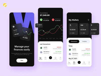 Expense tracker app design personal managing monitor solution finance design concept application tracker expense incomes transactions catchy financial interface android app ios app design app design design ux