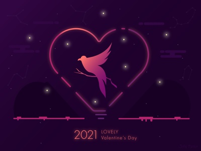 LOVELY Valentine's Day julypjuxa valentines valentinesday valentine day adobe illustrator illustration vector artwork vector