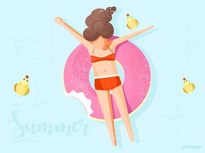 Summer joys julypjuxa summer joy summer adobe illustrator charachter illustration vector artwork vector
