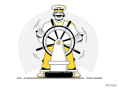 Sailor julypjuxa outlinestyle outline sailor charachter adobe illustrator illustration vector artwork vector