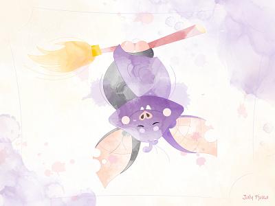 Coming soon... 🧙♀️🎃🍁 julypjuxa holiday halloween bat charachter adobe illustrator illustration vector artwork vector