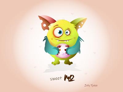 sweet Mo sweet monster monster cartoon charachter cartoon character vector vector artwork illustration adobe illustrator