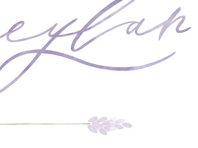 Photography Branding flower handwriting purple lilac photography logo