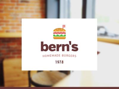 Hamburgers identity logo burger