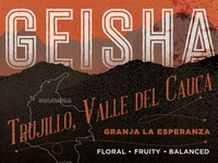 geisha variety coffee label