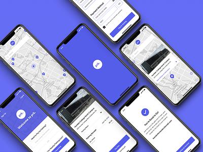 Parking Concept app concept app clean minimal ui branding design parking lot parking app parking