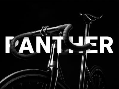 Panther Bike Typography bicycle bike minimal branding ui design photoshop photography typogaphy