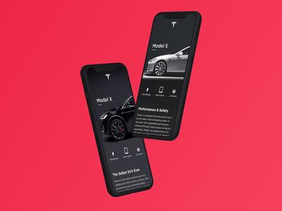 Tesla Mobile App Design ios branding app concept clean minimal tesla icon ui design app