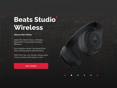 Beats Studio Wireless Product Page beats by dre design ui product beats