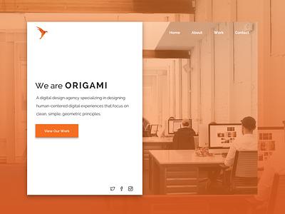 Design Agency Landing Page split screen web design ui design agency agency landing page