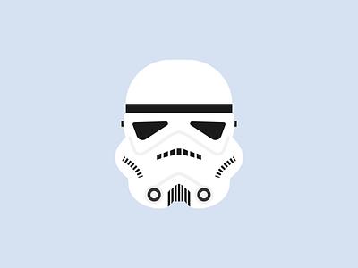 Stormtrooper stormtrooper star wars starwars minimal illustration flat illustration