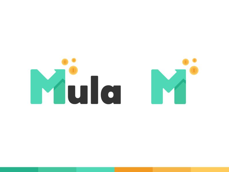 Mula Logo branding clean logos logo design budgeting budget arrow coins money logodesign design logo