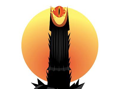 The Eye of Sauron sauron eye design flat design illustration vector adobe fanart minimalistic lord of the rings illustrator