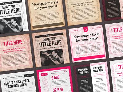 Newspaper Social Media Templates digital print information info illustrator photoshop square poster likes followers facebook instagram stories post social media social media templates socialmedia social newspaper