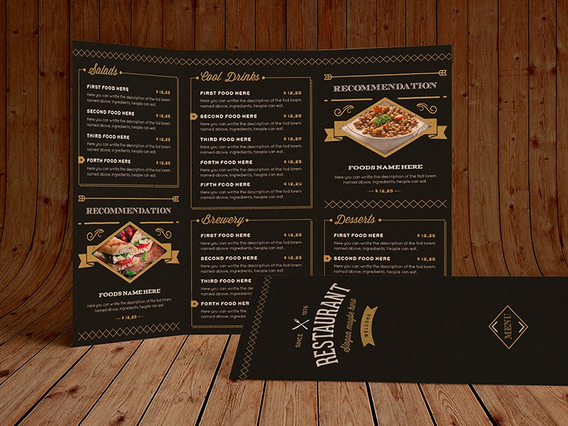 elegant food menu 12 by luuqas design dribbble dribbble