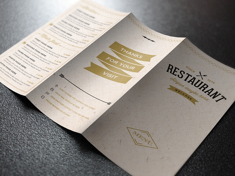 elegant food menu 12 light version by luuqas design dribbble