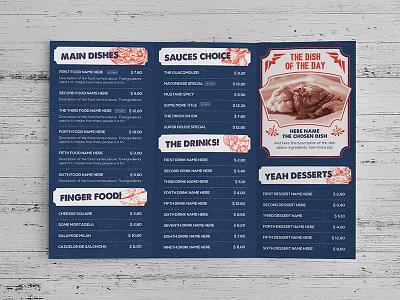 Multimenu Template 2 bar restaurant food menu template design table tent personal card graphicriver flyer