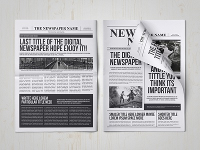 Classy Newspaper Indesign Template by luuqas design - Dribbble