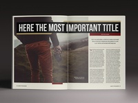 The Outsider Magazine Indesign Template