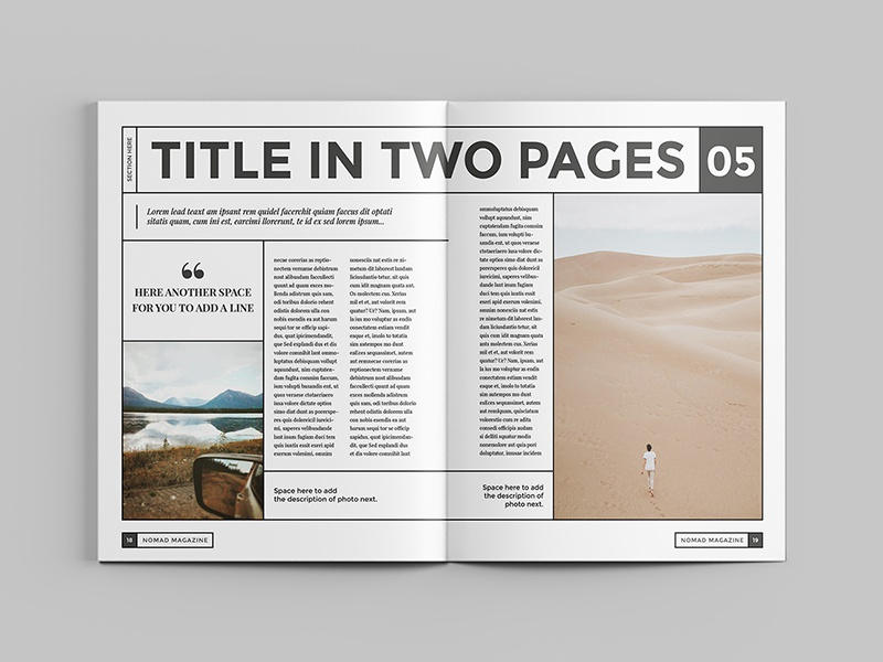 nomad magazine template by luuqas design dribbble dribbble